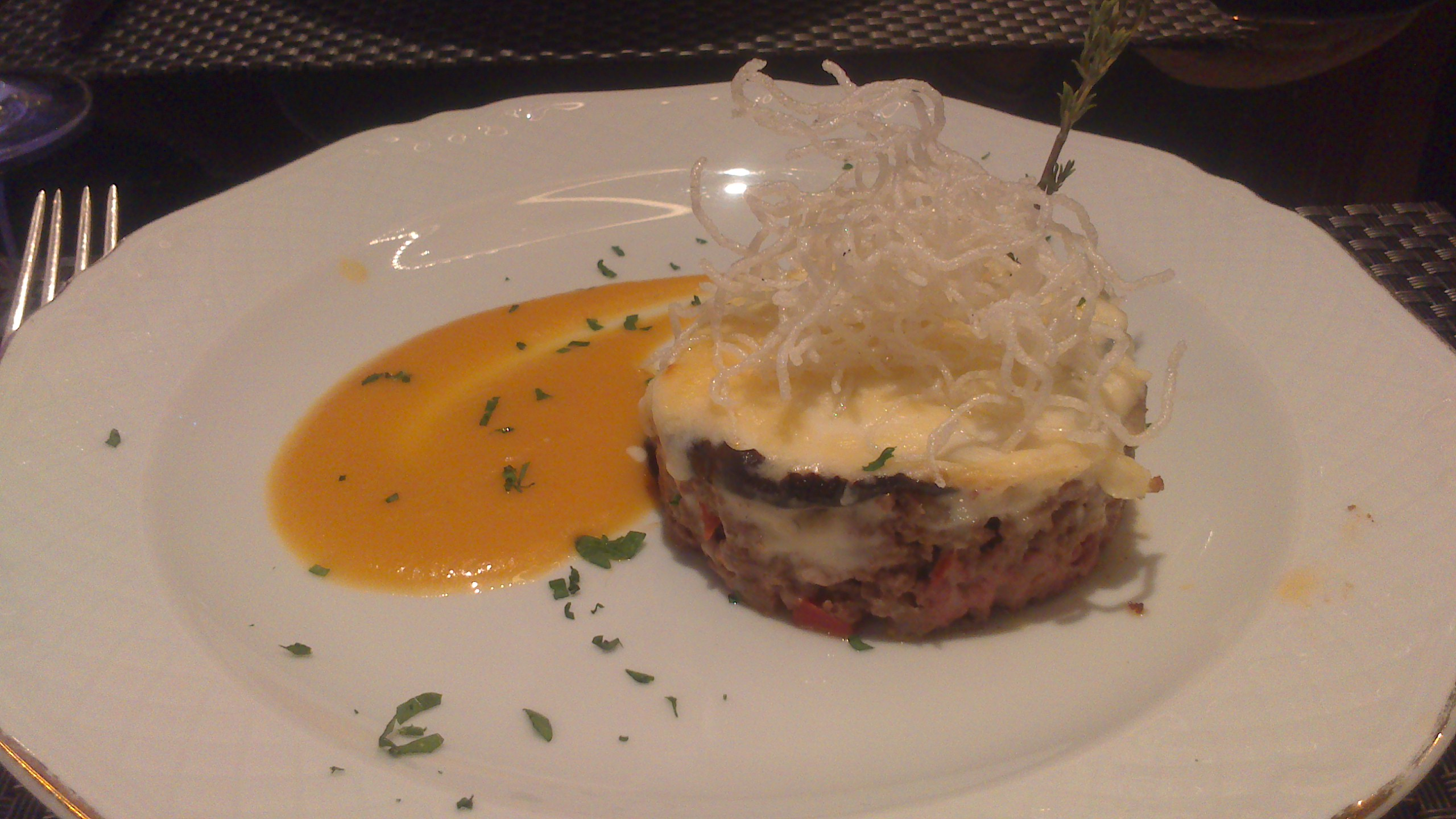 Restaurante The Lounge Pastel de carne